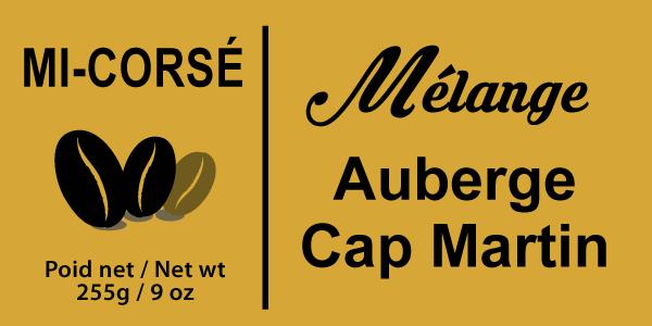Étiquette Mélange Auberge Cap Martin